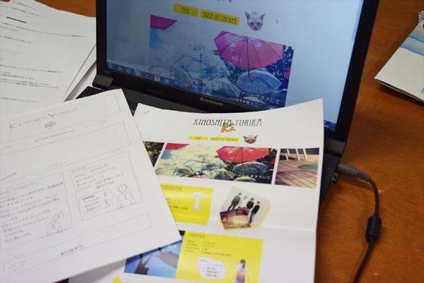 手描きラフ、デザインカンプ、サーバーアップしたサイト一式