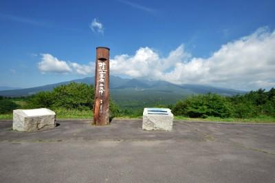 平沢峠駐車場と八ヶ岳