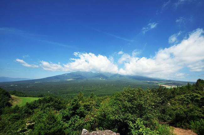 しし岩から八ヶ岳を眺める