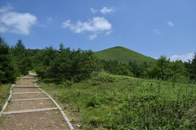 清里ルートから見る飯盛山