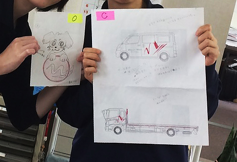 未来ネットワーク(株)様 車輛マーキング原案