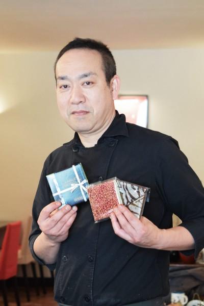 シェフ 中村元計さんおススメ タブレットショコラ・グルマンド 1個1,000円(税別)