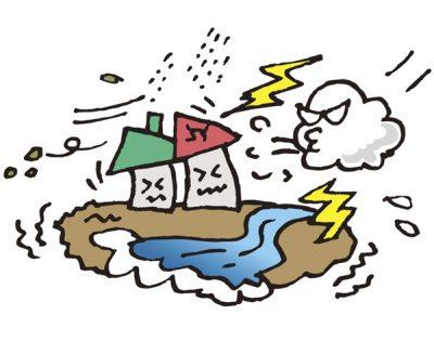 異常気象は看板の劣化も進行させる一因